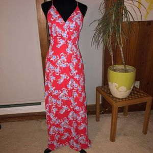 Lush Red Floral Maxi Dress